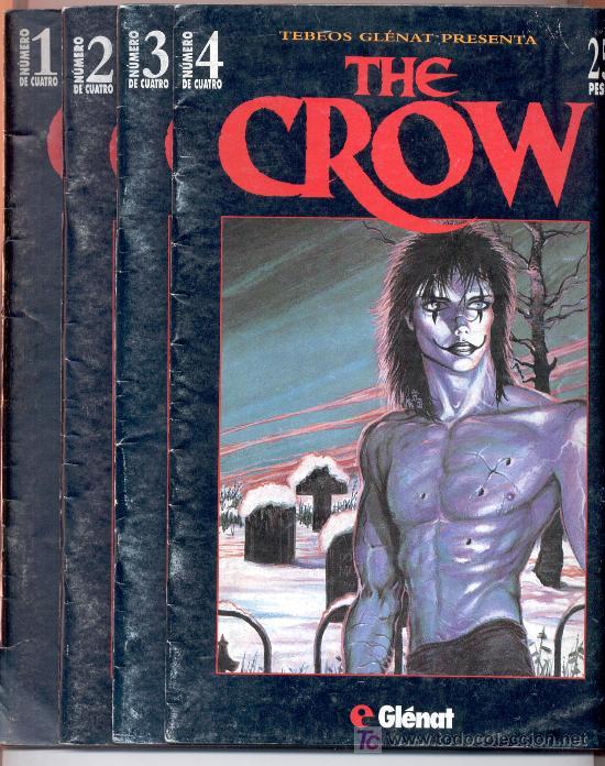 THE CROW -J. O' BARR -TEBEOS GLÉNAT, 1995. COMPLETO (4 EJEMPLARES; NÚMEROS 1, 2, 3 Y 4). (Tebeos y Comics - Glénat - Comic USA)