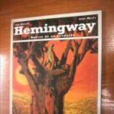 Cómics: HEMINGWAY. MUERTE DE UN LEOPARDO.COMIC. ED.1993. C1962. Lote 7992837