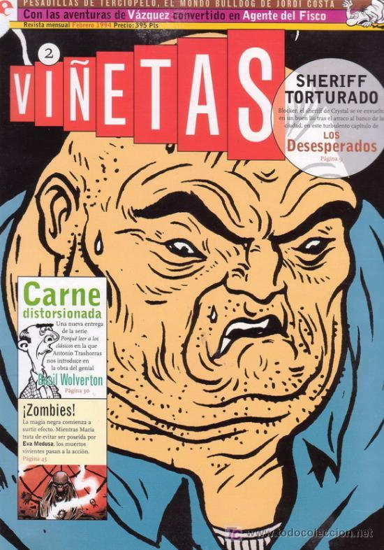 VIÑETAS Nº 2. CON EVA MEDUSA, LOS DESESPERADOS, TORPEDO, VAZQUEZ Y MUCHO MAS. EDICIONES GLENAT. (Tebeos y Comics - Glénat - Autores Españoles)