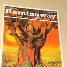 Cómics: HEMINGWAY, MUERTE DE UN LEOPARDO. JEAN DUFAUX Y MARC MALÉS. BIBLIOTECA GRÁFICA GLÉNAT, 1993.++++. Lote 26241387