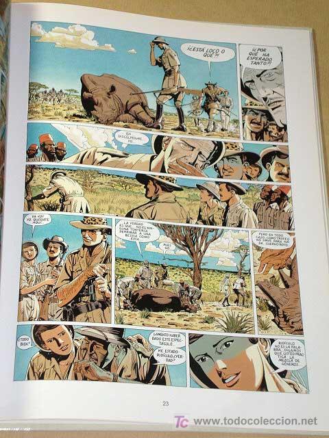 Cómics: HEMINGWAY, MUERTE DE UN LEOPARDO. JEAN DUFAUX Y MARC MALÉS. BIBLIOTECA GRÁFICA GLÉNAT, 1993.++++ - Foto 2 - 26241387