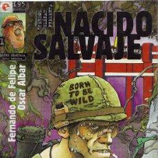 Comics: NACIDO SALVAJE, Nº 1. FERNANDO DE FELIPE Y OSCAR AIBAR. ED. GLENAT, 1995.. Lote 18813247