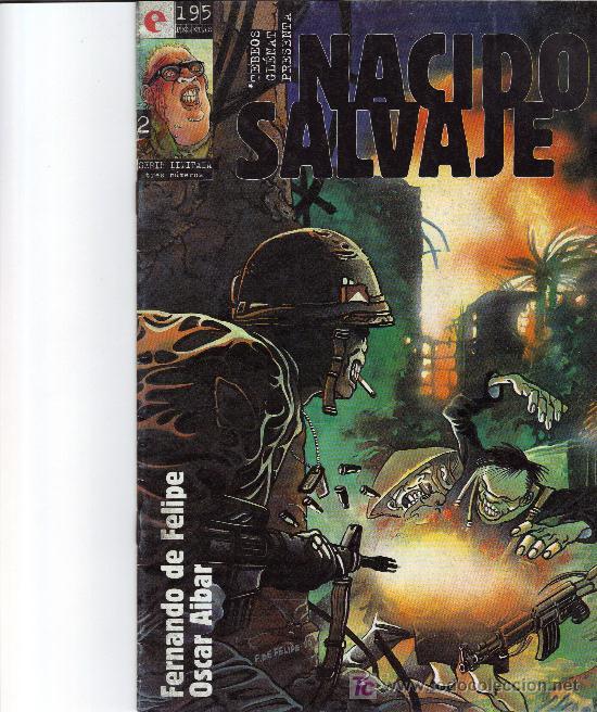 NACIDO SALVAJE, Nº 2. FERNANDO DE FELIPE Y OSCAR AIBAR. ED. GLENAT, 1995. (Tebeos y Comics - Glénat - Comic USA)