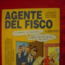 Cómics: AGENTE DEL FISCO - VAZQUEZ - GLENAT - TAPA BLANDA. Lote 24187671