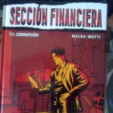 Cómics: COLECCIÓN VIÑETAS NEGRAS - SECCIÓN FINANCIERA - TOMO Nº 1 - UNICO PUBLICADO- DESCATALOGADO. Lote 27052086