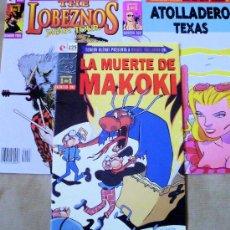 Cómics: COLECCIÓN 1 DE 1 - 1 LA MUERTE DE MAKOKI - 2 ATOLLADERO TEXAS - 3 LOBEZNOS - NUEVOS (PRECINTADOS). Lote 180438258