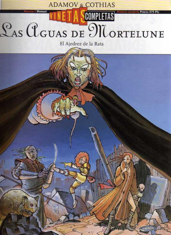 LAS AGUAS DE MORTELUNE - EL AJEDREZ DE LA RATA - ADAMOV / COTHIAS - VIÑETAS COMPLETAS Nº 1 - GLÉNAT (Tebeos y Comics - Glénat - Comic USA)