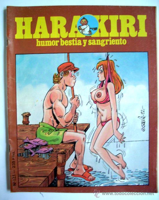 HARAKIRI--Nº 123--AÑO 1992 ORIGINAL (Tebeos y Comics - Glénat - Serie Erótica)