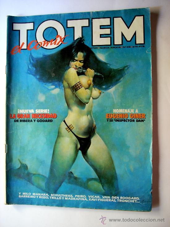 TOTEM--Nº29--AÑO 1987 ORIGINAL--HOMENAJE A EUGENIO GINER (Tebeos y Comics - Glénat - Serie Erótica)
