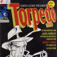Cómics: TORPEDO, COMPLETA, 30 NÚMEROS,BERNET Y ABULÍ GLENAT AÑO 1994. Lote 38302233
