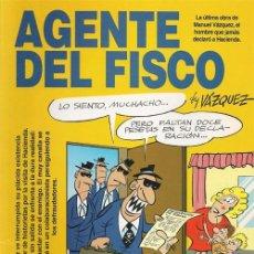 Cómics: AGENTE DEL FISCO, MANUEL VÁZQUEZ. Lote 38504669