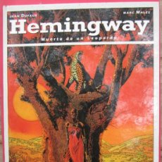 Cómics: HEMINGWAY - BIBLIOTECA GRAFICA - MUERTE DE UN LEOPARDO , JEAN DUFAUX - MARC MALES - 1993 . Lote 38767627