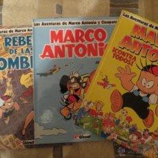 Comics: LAS AVENTURAS DE MARCO ANTONIO Y CLEOPATRA. LOTE 3 ALBUMS. MIQUE. GLENAT. Lote 39864393