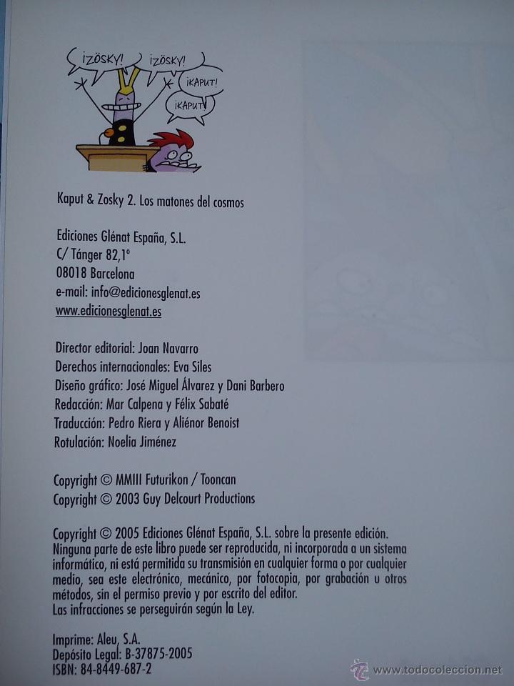 Cómics: KAPUT & ZÖSKY. LOTE DE 2 COMICS. LOS VERDUGOS DEL INFINITO. LOS MATONES DEL COSMOS. LEWIS TRONDHEIM. - Foto 7 - 43680346