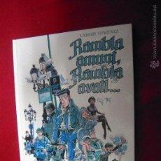Cómics: RAMBLA AMUNT RAMBLA AVALL - GIMENEZ - CARTONE - EN CATALAN. Lote 47847563