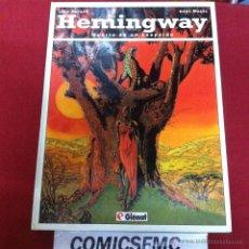Cómics: GLENAT - HEMINGWAY - MUERTE DE UN LEOPARDO. Lote 49578653