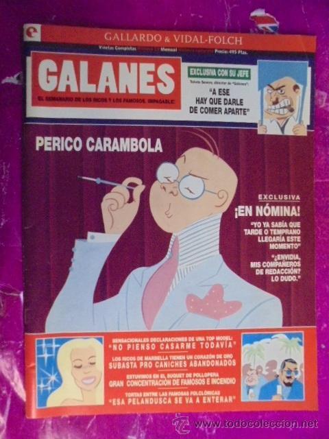 GALLARDO / VIDAL-FOLCH - GALANES EL SEMANARIO DE LOS RICOS Y FAMOSOS - VIÑETAS COMPLETAS Nº 10 (Tebeos y Comics - Glénat - Autores Españoles)