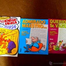 Cómics: MANUEL VAZQUEZ SAPPO DON CORNELIO LADILLA Y SU SEÑORA MARIA, GLENAT GENIOS DEL HUMOR 1 Y 2. Lote 255363040