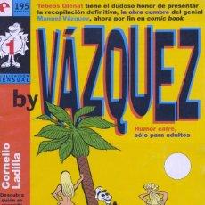 Cómics: BY VÁZQUEZ Nº1. EDICIONES GLÉNAT, 1995. Lote 58937800