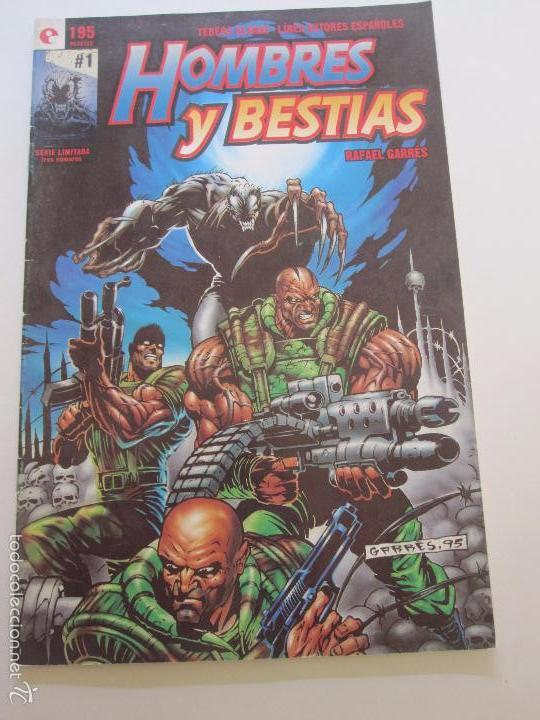 HOMBRES Y BESTIAS - Nº 1 DE 3 - DE RAFAEL GARRÉS GLENAT E11 (Tebeos y Comics - Glénat - Autores Españoles)