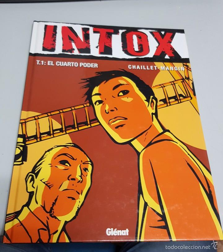 INTOX 1 - EL CUARTO PODER ¡NOVELA GRAFICA 48 PAGINAS! CHAILLET - MANGIN / GLENAT (Tebeos y Comics - Glénat - Comic USA)