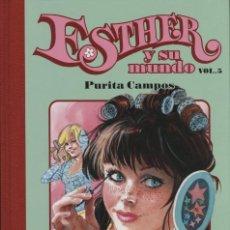 Cómics: ESTHER Y SU MUNDO Nº 5, DE PURITA CAMPOS (GLÉNAT, 2008) NUEVO. Lote 98248347