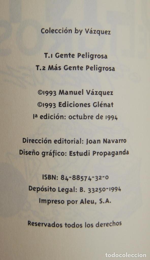 Cómics: MÁS GENTE PELIGROSA - BY VÁZQUEZ - EDICIONES GLENAT - 1993 - Foto 4 - 62172456