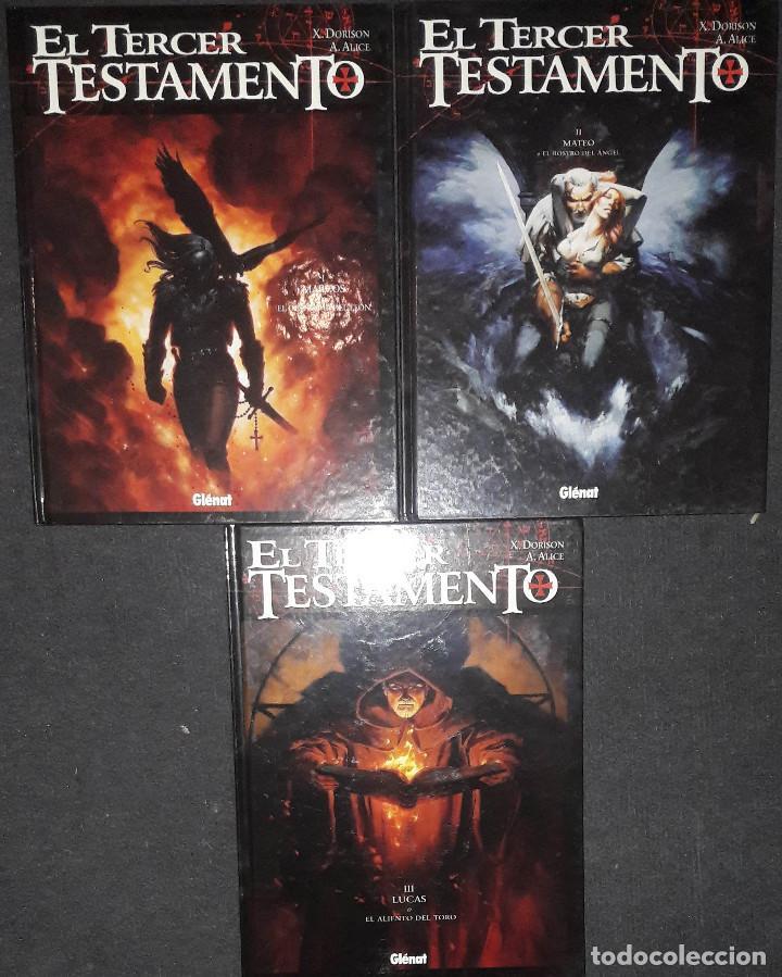 EL TERCER TESTAMENTO LOTE PACK NUMEROS 1 2 Y 3 X.DORISON A.ALICE EDITORIAL GLENANT (Tebeos y Comics - Glénat - Comic USA)