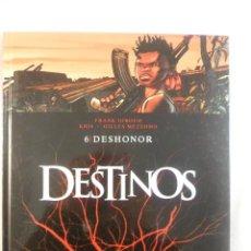 Cómics: DESTINOS. NÚMERO 6 DESHONOR. F. GIROUD - KRIS - GILLES MEZZOMO. GLÉNAT. Lote 79102837