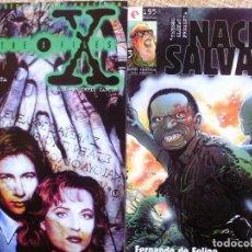 Cómics: 2 COMICS VARIOS DE TEBEOS GLENAT/ X-FILES Y NACIDO SALVAJE. Lote 79362225