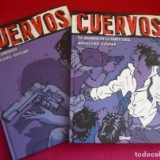Cómics: CUERVOS 1 Y 2 ( MARAZANO DURAND) ¡MUY BUEN ESTADO! GLENAT VIÑETAS NEGRAS TAPA DURA. Lote 79956737