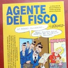 Cómics: GENIOS DEL HUMOR 2 - AGENTE DEL FISCO DE MANUEL VÁZQUEZ. Lote 79874571