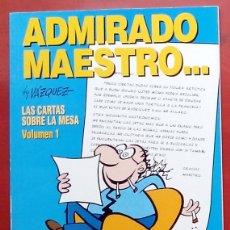 Cómics: GENIOS DEL HUMOR 3 - ADMIRADO MAESTRO DE MANUEL VÁZQUEZ. Lote 79874574