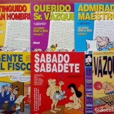 Cómics: GENIOS DEL HUMOR 1 A 5 Y BY VAZQUEZ DE MANUEL VÁZQUEZ EN RETAPADO (LOTE DE 6 LIBROS). Lote 82010495