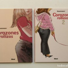 Cómics: CORAZONES ROLLIZOS - KRASSINSKY - GLENAT - TAPA DURA - MUY BUENO. Lote 83792108