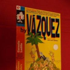 Cómics: BY VAZQUEZ. Nº 1. HUMOR CAFRE. GLENAT.. Lote 89222244