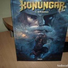 Cómics: KONUNGAR - NÚMERO 1 - INVASIONES - TAPA DURA - GLENAT. Lote 89692332