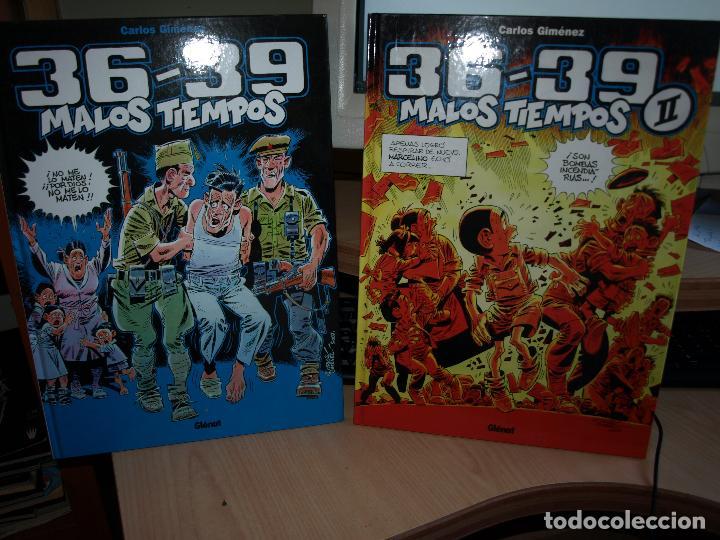 36-39 - MALOS TIEMPOS - NÚMEROS 1 Y 2 - TAPA DURA - GLENAT (Tebeos y Comics - Glénat - Comic USA)