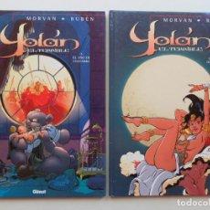 Cómics: YOLAN EL TERRIBLE 1 Y 2 - MORVAN Y RUBÉN - GLENAT - TAPA DURA - MUY BUENO. Lote 91688420