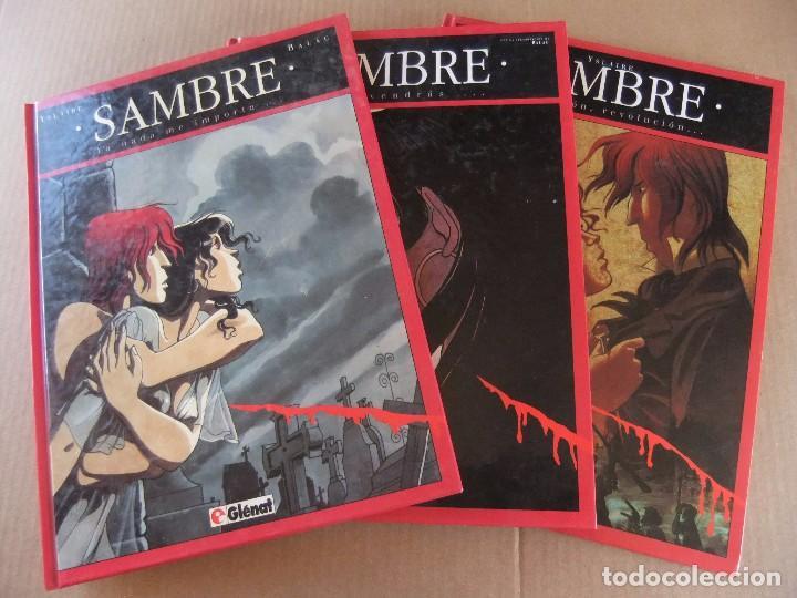SAMBRE LOTE DE 3 NUMEROS GLENAT TAPA DURA (Tebeos y Comics - Glénat - Comic USA)