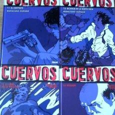 Cómics: CUERVOS. MARAZANO Y DURAND. COLECCIÓN VIÑETAS NEGRAS 1 A 4. COMPLETA. NUEVOS.. Lote 96385747
