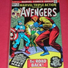 Cómics: MARVEL TRIPLE ACTION THE AVENGERS THE ROAD BACK .NO.16 .JAN. 1974,IS ORIGINAL, NOT COPY NO REPRINT. Lote 96840271