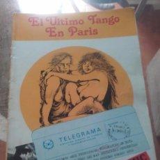Cómics: EL ÚLTIMO TANGO EN PARIS. Lote 97172575