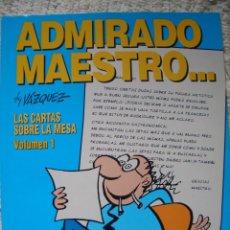 Cómics: LAS CARTAS SOBRE LA MESA #1: ADMIRADO MAESTRO (GLÉNAT, 1995). Lote 97826535