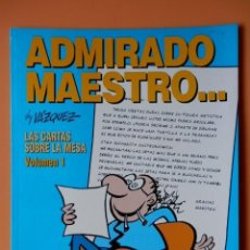 Cómics: ADMIRADO MAESTRO... LAS CARTAS SOBRE LA MESA. VOLUMEN 1. COLECCIÓN GENIOS DEL HUMOR. TOMO 3 - MANUEL. Lote 98105127