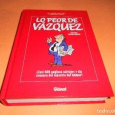 Cómics: LO PEOR DE VAZQUEZ. RECOPILATORIO DE LO MEJOR DE VAZQUEZ. TAPA DURA . IMPECABLE.. Lote 102217467