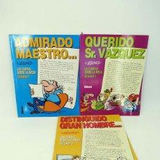 Cómics: LAS CARTAS SOBRE LA MESA 1 A 3 COMPLETA (BY MANUEL VÁZQUEZ) GLENAT, 1997. OFRT. Lote 155440818