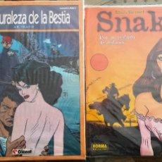 Cómics: SNAKE Y LA NATURALEZA DE LA BESTIA - NOVELAS GRÁFICAS.. Lote 106568343