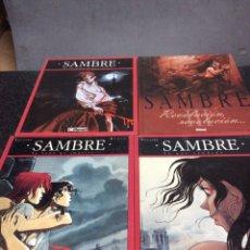 Cómics: SAMBRE, LOTE 4 TOMOS / YSLAIRE Y BASTIDE -ED. GLENAT. Lote 107664803