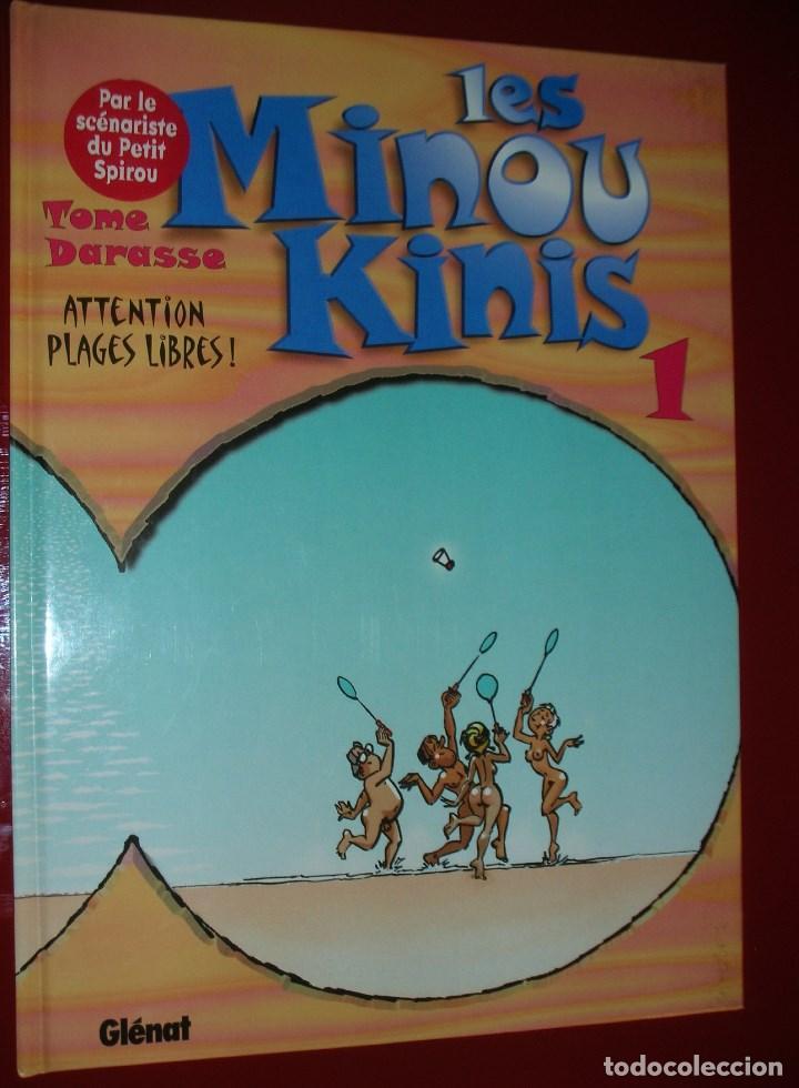 LES MINOUKINIS, TOME 1 : ATTENTION, PLAGES LIBRES ! ALBUM – NOVEMBRE 1997 . NEUF. NUEVO. ED. FRANCÉS (Tebeos y Comics - Glénat - Serie Erótica)